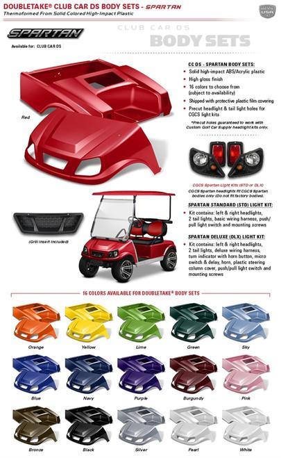Double Take Club Car Ds Spartan Body Kit. Club Car Ds Spartan. Wiring. Fan Golf Cart Wiring Harness At Scoala.co