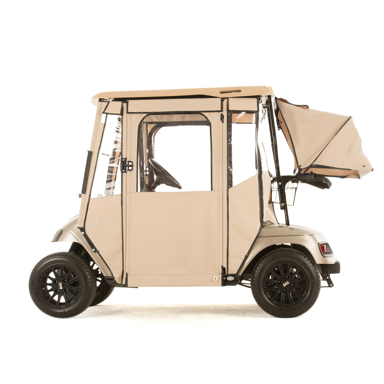 Ezgo Txt Quot Door Lux Quot 3 Sided Sunbrella Door Works Enclosure
