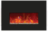 """Amantii INSERT-26-3825 26"""" Small Insert Electric Fireplace with Black Glass Surround"""