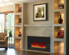 """Amantii INSERT-26-3825-BG 26"""" Small Insert Electric Fireplace with Black Glass Surround"""