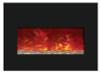 "Amantii INSERT-30-4026 30"" Medium Insert Electric Fireplace with Black Glass Surround"