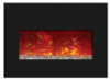 """Amantii INSERT-33-4230 32"""" Large Insert Electric Fireplace with Black Glass Surround"""