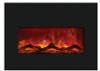 "Amantii INSERT-33-4230-BG 32"" Large Insert Electric Fireplace with Black Glass Surround"