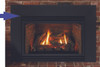 """White Mountain Hearth DF20LBL 6"""" Decorative Front with Louvers and Glass - Matte Black"""