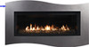 White Mountain Hearth DF41WBL Tidewater Decorative Front with Barrier Screen - Matte Black