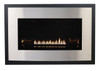 White Mountain Hearth DFB33RSS Eclipse Decorative Front with Barrier Screen - Stainless Steel
