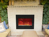 """Amantii ZECL394134 39"""" Zero Clearance Series Electric Fireplace with Black Glass Surround"""