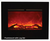 """Amantii ZECL-39-4134-BG 39"""" Zero Clearance Series Electric Fireplace with Black Glass Surround"""
