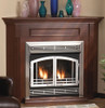"""White Mountain Hearth VFR32SMBL 32"""" Mission Arch Doors for Breckenridge Deluxe 32 in Matte Black"""