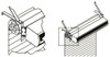 """Mars J0010G-TS 19"""" Clearance Drum-Roll-Style Extended Offset Mounting Bracket"""