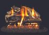 RH Peterson Real-Fyre Charred Rugged Split Oak Log Set - Choice of Vented Burner and Valve Kit