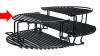 Primo PRM312 Half-Moon Extended Cooking Rack for Oval 200 and Kamado Grills