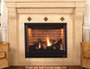 "Superior DRT3535DEP 35"" Direct Vent Fireplace, Top/Rear Vent Pro Series, Liquid Propane, Variable Speed Blower and Remote"