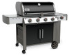Weber 62014001 Genesis II LX E-440 Freestanding Gas Grill with Side Burner - Black - LP