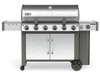 Weber 63004001 Genesis II LX S-640 Freestanding Gas Grill with Side Burner - Stainless/Black - LP
