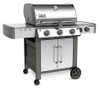 Weber 66004001 Genesis II LX S-340 Freestanding Gas Grill with Side Burner - Stainless/Black - NG