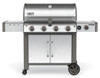 Weber 67004001 Genesis II LX S-440 Freestanding Gas Grill with Side Burner - Stainless/Black - NG