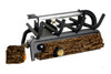 RH Peterson Real-Fyre 2000 BTU Valley Oak Log Set and Vent Free Burner - Choice of Size and Burner Valve