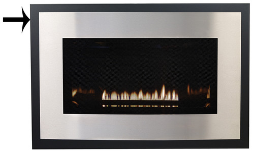 White Mountain Hearth DS3366BL Decorative Black Metal Frame (Required with Eclipse Front)
