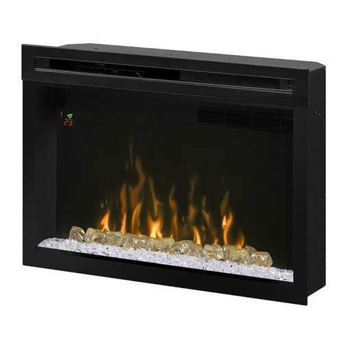 "Dimplex PF2325HG 25"" Multi-Fire XD Electric Firebox with Glass Ember Bed"