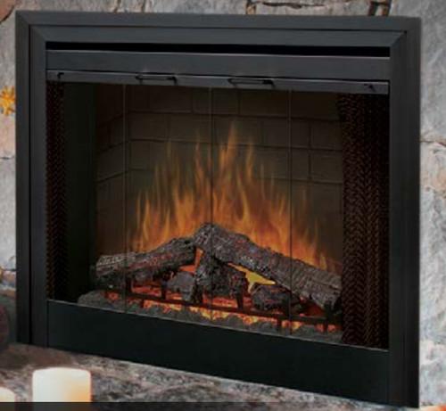 """Dimplex BFDOOR39BLKSM 39"""" Single-Pane Glass Door for Built-In Firebox"""