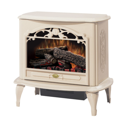 Dimplex TDS8515TC Celeste Electric Stove with Log Set - Cream