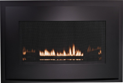 White Mountain Hearth DFB25RBL Eclipse Decorative Front with Barrier Screen - Matte Black