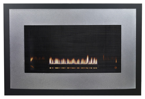 White Mountain Hearth DFB25RHP Eclipse Decorative Front with Barrier Screen - Hammered Pewter