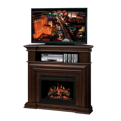 Media console fireplaces dimplex gds25hl 1057e montgomery corner media console and electric fireplace with logs teraionfo
