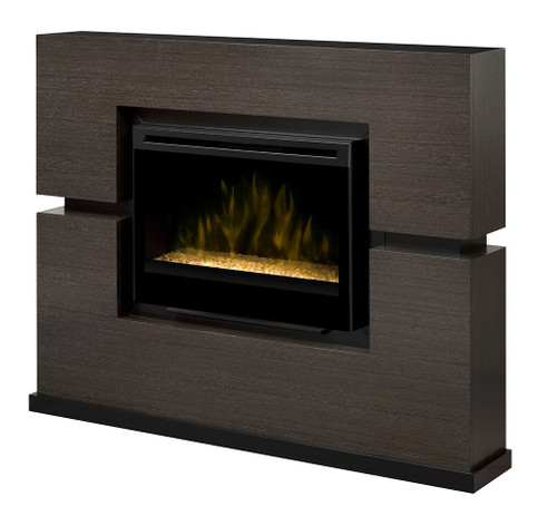 Dimplex GDS33G-1310RG Linwood Electric Fireplace Package with Glass Ember Bed