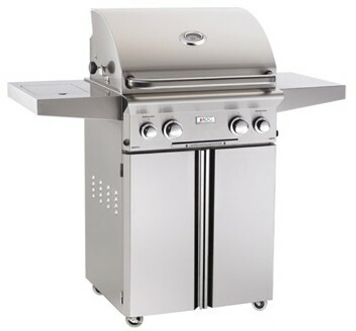 "American Outdoor Grill 24PCL 24"" Portable/Freestanding Liquid Propane Grill with Rotisserie"