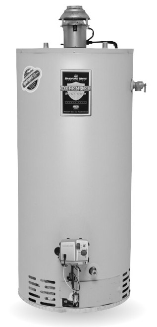 Bradford White RG1D40T6X 40 Gallon, Damper Atmospheric Vent Water Heater, Liquid Propane