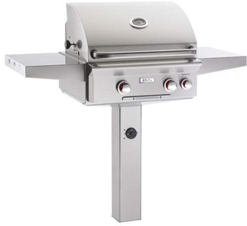 "American Outdoor Grill 24PGL-00SP 24"" In-Ground Post Mount Liquid Propane Grill"