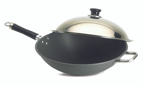 "Fire Magic 3572 14"" Wok with Stainless Steel Cover"