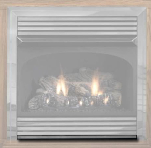 White Mountain Hearth VPS26HP Hammered Pewter Bottom Trim Kit for Vail 26
