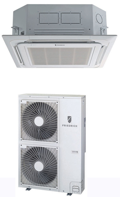 Friedrich C36YJ 36,000 BTU Heat/Cool 19.0 SEER Ceiling Cassette (with Grille Cover) Mini Split Air Conditioner