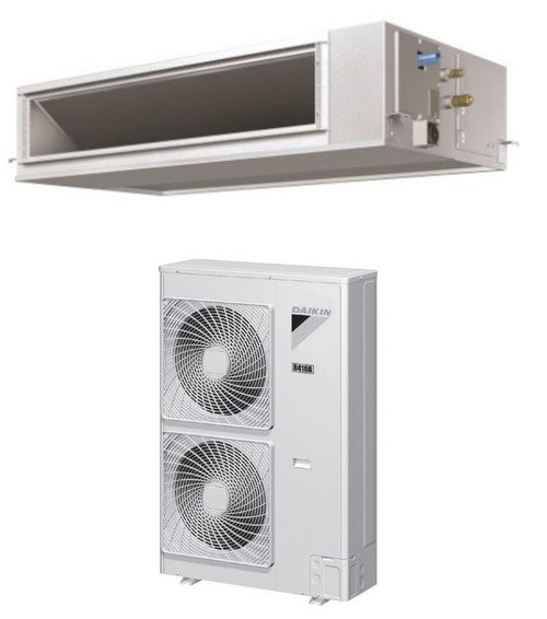 Daikin FBQ42PVJU / RZR42PVJU 42000 BTU Class SkyAir Commercial DC Ducted Concealed Ceiling Cool Only 16 SEER Single Zone System