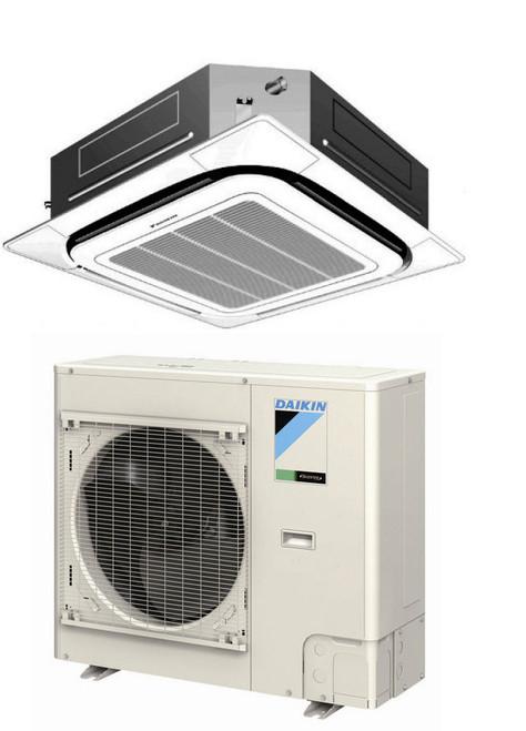 Daikin FCQ18PAVJU / RZQ18PVJU9 18000 BTU Class SkyAir Commercial Roundflow Ceiling Cassette Heat Pump 17.2 SEER Single Zone System
