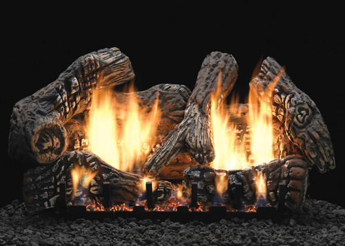 White Mountain Hearth Supersized Charred Oak Log Set - Choice of Vent Free Burner