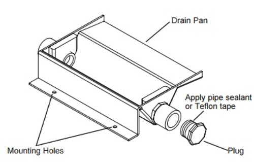 General Electric RAVDP18 Drain Pan for Zoneline 18000 BTU, Large Chassis Vertical Air Conditioners
