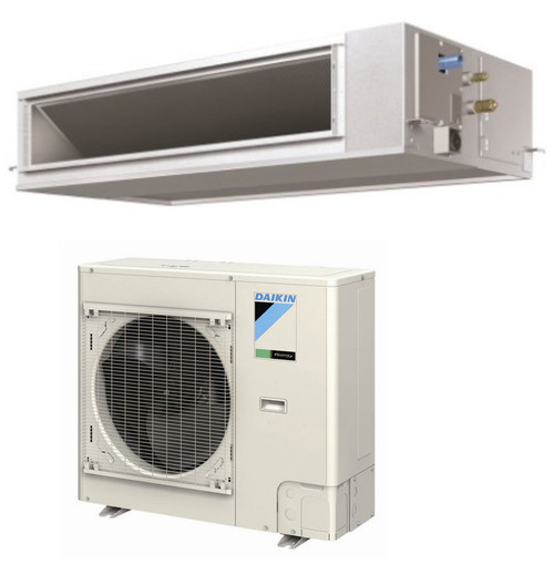 Daikin FBQ30PVJU / RZQ30PVJU 30000 BTU Class SkyAir Commercial DC Ducted Concealed Ceiling Single Zone Heat Pump 16 SEER System
