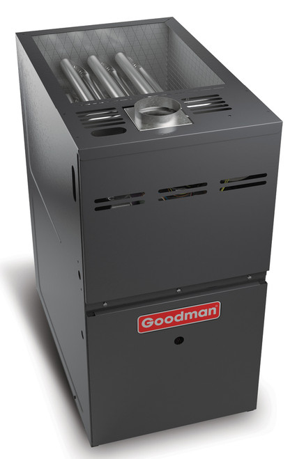 Goodman GMH81205DN 140,000 BTU, 80% AFUE Two-Stage Convertible Gas Furnace