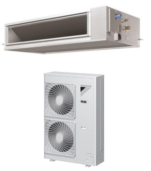 Daikin FBQ36PVJU / RZQ36PVJU9 36000 BTU Class SkyAir Commercial DC Ducted Concealed Ceiling Single Zone Heat Pump 17.5 SEER System