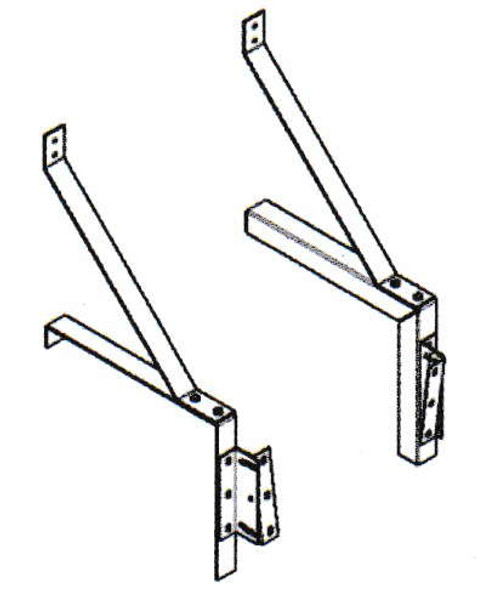 "Mars J0008G-TS 10"" Clearance Extended Offset Mounting Bracket"