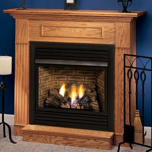 "Monessen WSHGC36F-O-A 36"" Oak Standard Wall Cabinet Mantel with Hearth - Honey Oak"