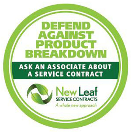 New Leaf CAPP5U1500 5 Year Labor Warranty - Major Appliances/Commercial Use - Terms and Conditions Apply