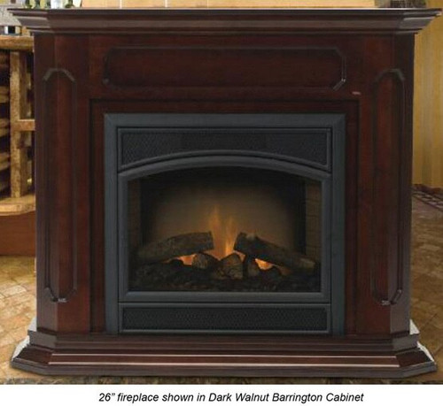 Monessen BWC400-U Barrington Adjustable Wood Cabinet Surround - Unfinished - shown in dark walnut