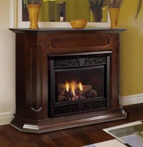 Monessen BWC500-DW-A Barrington Adjustable Wood Cabinet Surround - Dark Walnut