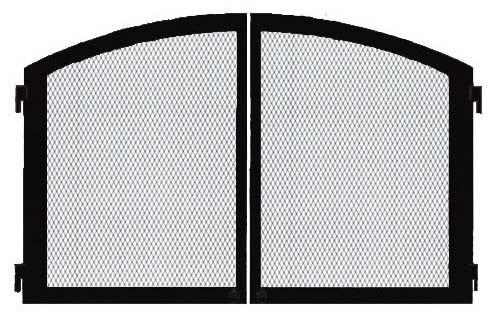 """Monessen DLC32CDBT 32"""" Cabinet Doors with Screens in Textured Black"""