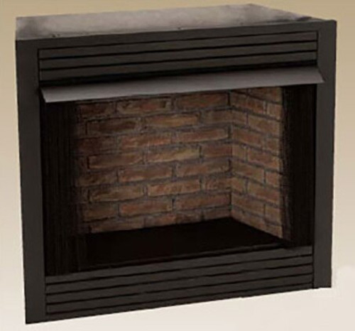 "Monessen GCUF36CF 36"" Vent-Free Louvered Firebox with Cottage Clay Liner"